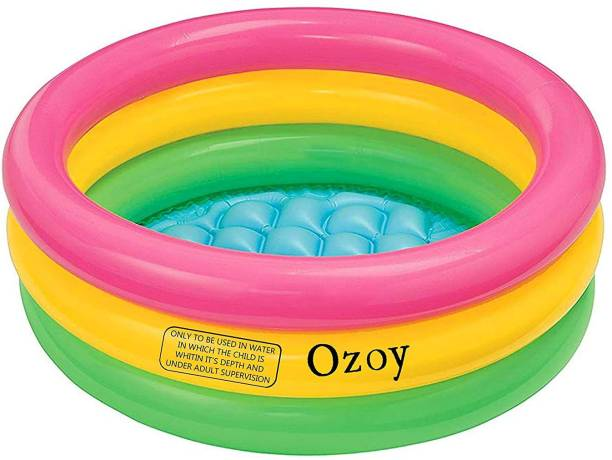 keekos Portable inflatable 3 ft Multicolor ring bath tub Child tub (Multicolor)
