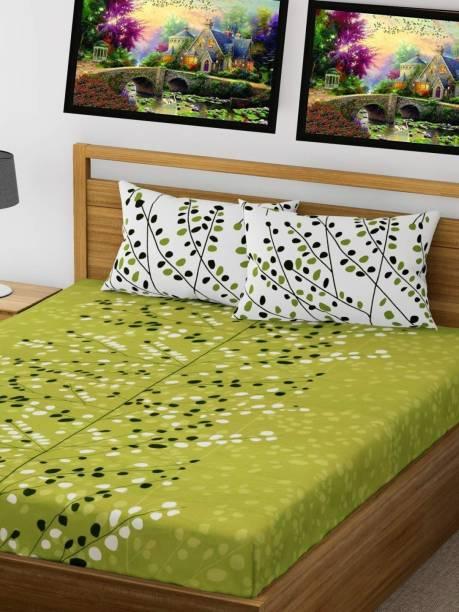 Leo Creation 322 TC Cotton Double Floral Bedsheet