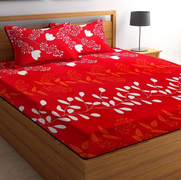 VAS COLLECTIONS 105 TC Microfiber King Abstract Bedsheet