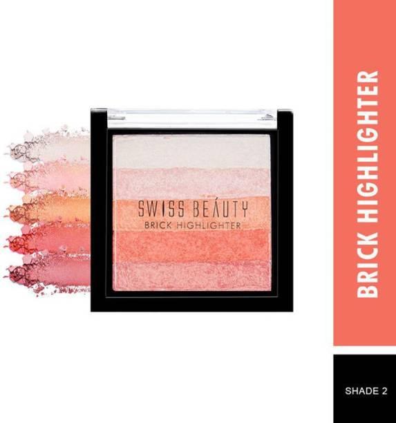 SWISS BEAUTY Blusher Highlighter Brick Shade-2 SB805