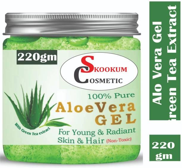 SKOOKUM 100% Pure Aloe Vera Gel for Beautiful Skin & Hair