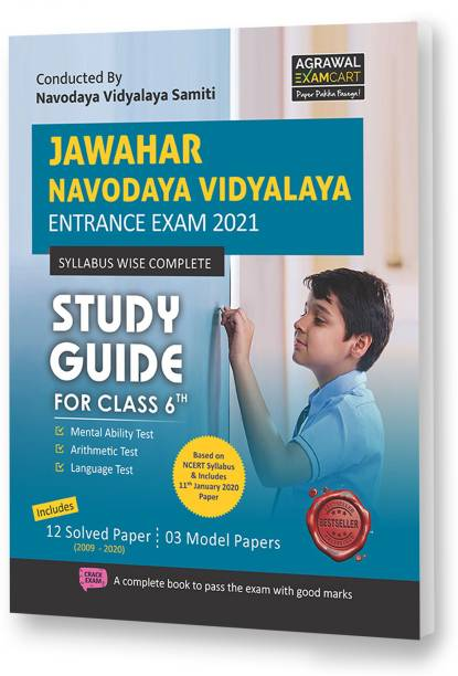 Jawahar Navodaya Vidyalaya (Jnv) Class 6 Entrance Exam Complete Guide Book with Solved Papers for 2021