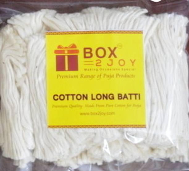 Box2joy Long Cotton Wicks / Diya Batti for Pooja Cotton Wick