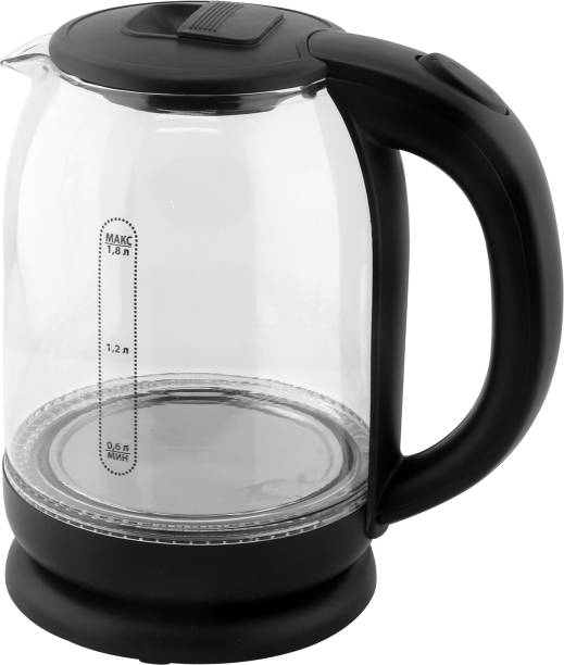 DEZEEN Electric Kettle, Glass Kettle, 1.8 Liters, Tempered Glass Beverage Maker