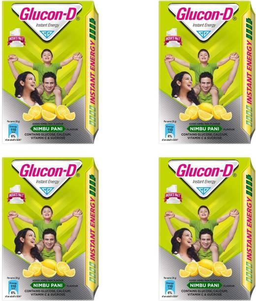 GLUCON-D Instant Energy Nimbu Pani 450g (Pack of 4) Energy Drink