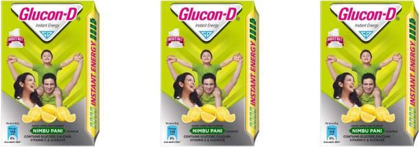 GLUCON-D Instant Energy Nimbu Pani 450g (Pack of 3) Energy Drink