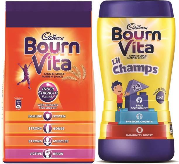 Cadbury Bournvita 1 Kg Pouch + Lil Champs 500 Gm Jar Combo
