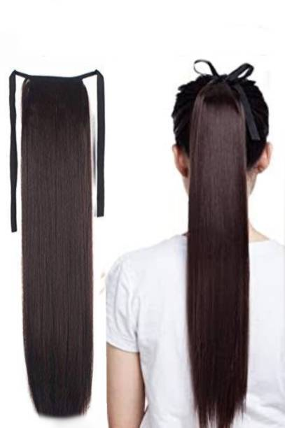 Alizz Brown hair extension Ribbon Ponytail tie up wig Hair Extension