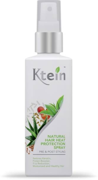 ktein Natural Hair Heat Protection and Nourishment Spray, Infused with Rice Water, Flaxseeds, Grapeseeds, Aloevera, Greentea Hair Spray