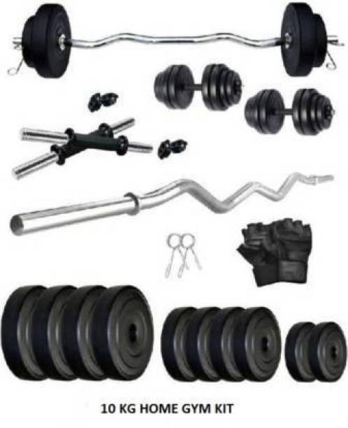 L'AVENIR PVC 10KG HOME GYM KIT WITH ACCESSORIES Gym & Fitness Kit