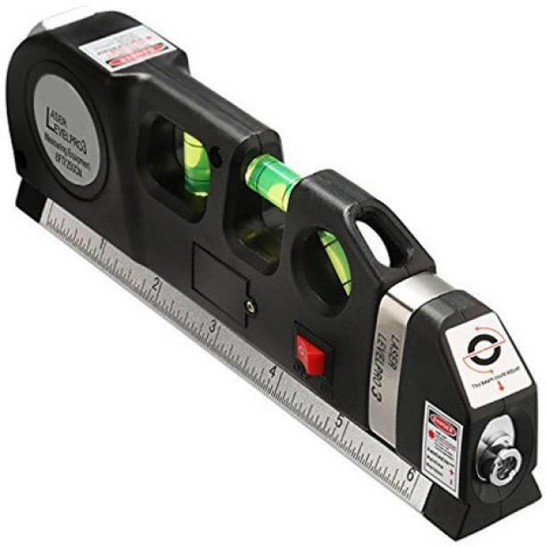 Right Gear Level Pro 3 Multipurpose Laser Level laser measure Line 8ft Measure Tape Ruler Adjusted Standard and Metric Rulers Non-magnetic Line Level