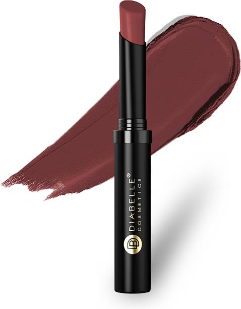 DIABELLE Creamy MATTE Long Lasting Lipstick 306 Romantic Marsala (Brown), 2.2g   Infused With Vitamin C & Vitamin E Oil, Long Lasting