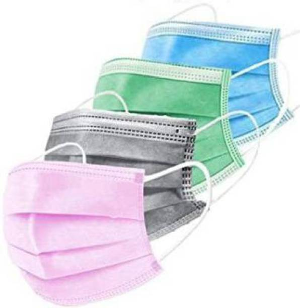 DM SPECIALLY FOR SPECIALIST - Special Multicolored Disposable Face Masks with Elastic Earloops | 3-ply Breathable Non-Woven Mouth Cover for Personal Individually Wrapped Water Resistant Surgical Mask