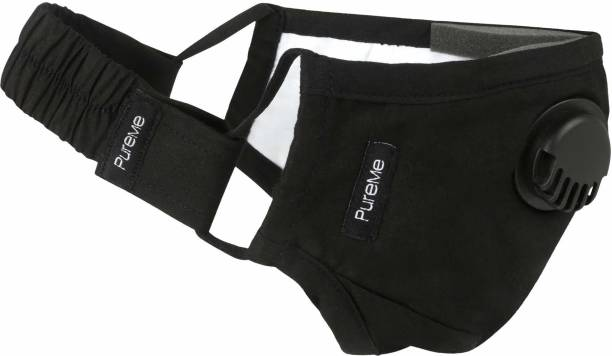 PureMe Reusable N95 Anti Pollution Mask with 4 PM2.5 Filters and Detachable Head Band R001B