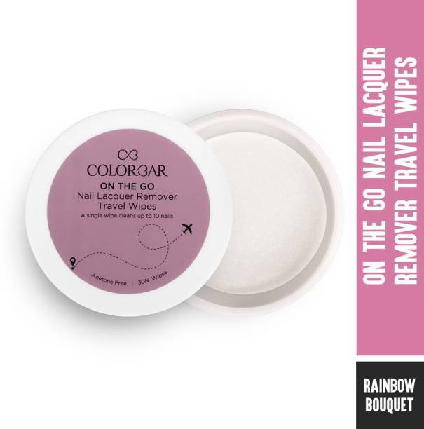 COLORBAR On The Go Nail Lacquer Remover Wipes-Rainbow Bouquet 30 wipes