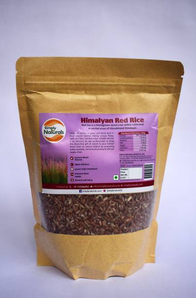 simply naturals Himalayan Red Rice Red Raw Rice (Medium Grain, Unpolished)
