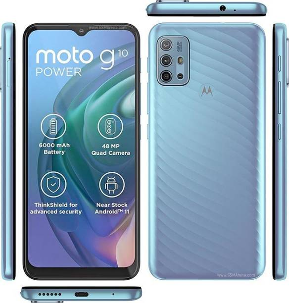 LIGHTWINGS Front and Back Tempered Glass for Motorola Moto G10 Power