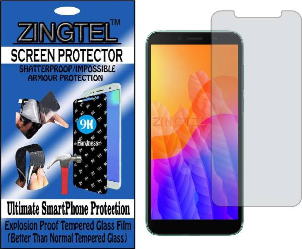 ZINGTEL Tempered Glass Guard for HUAWEI Y5P (Flexible, Unbreakable)