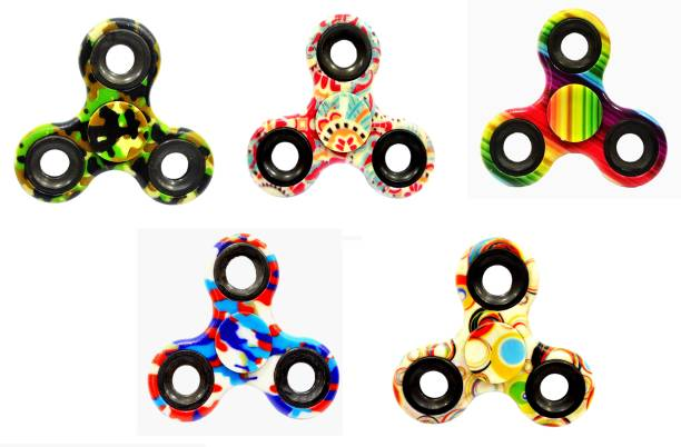 PREMSONS 5 PACK Combo Fidget Spinner Printed Camo Hand Relief Toy Premium Quality Spinners for Kids, Adults