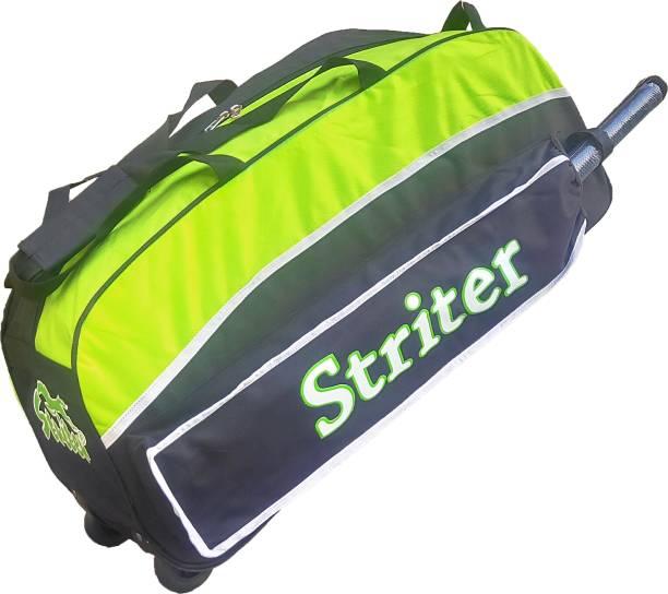 Giftadia 30 Inch Cricket/Hockey/Football/Travel Trolley Kit Bag-Green