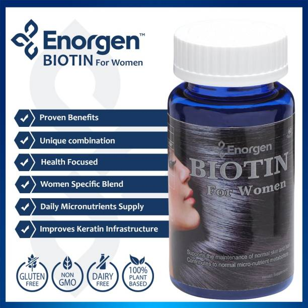 Enorgen Biotin for Women - Max Strength 10,000 (mcg) with Nutrients for hair, skin & nails