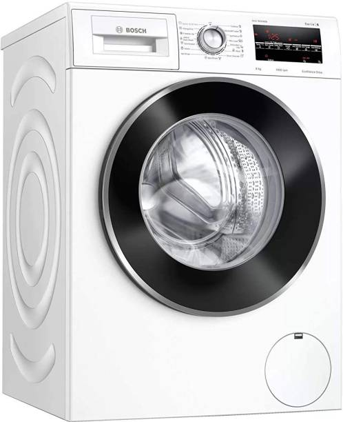 BOSCH 8 kg Fully Automatic Front Load with In-built Heater White