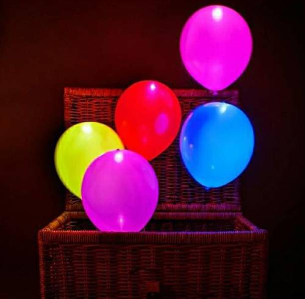 Trade Hub Solid Pack of five Balloons for a Parties - ( Multicolor ) Magic Balloon