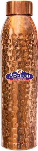 Apeiron copper jointless water bottle Hammered leak proof cap 1000 ml Bottle