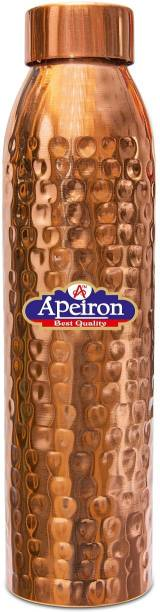 Apeiron Hammered Pure Copper Water Bottle with New Stylish and Leak Proof Cap - 1000 ml 1000 ml Bottle