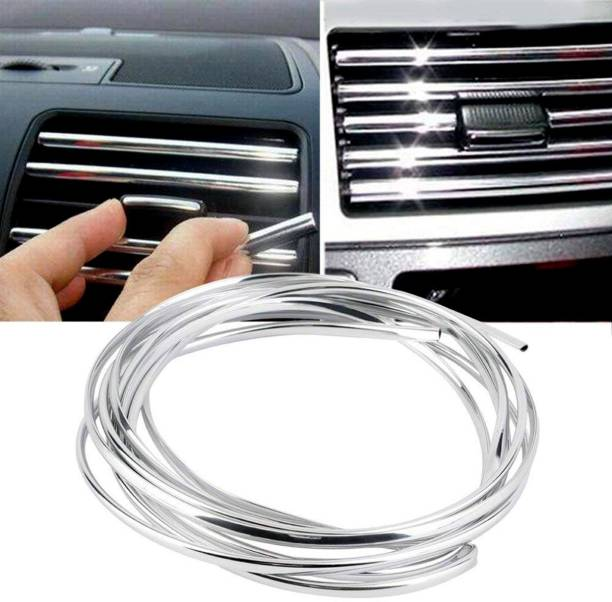 Lakshmina Enterprises AC Car Vent Chrome roll Styling Edge Car Beading Roll For Door, Window, Grill and Garnish Cover