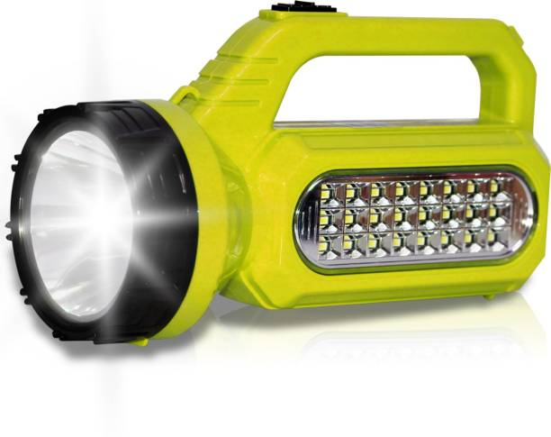 Pick Ur Needs SOLAR Primium Quality Led Rechargeable Torch 30 Watt + 24 SMD Side Light Torch Torch Emergency Light