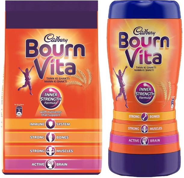 Cadbury Bournvita 1 Kg Pouch + Bournvita 500 Gm Jar Energy Drink