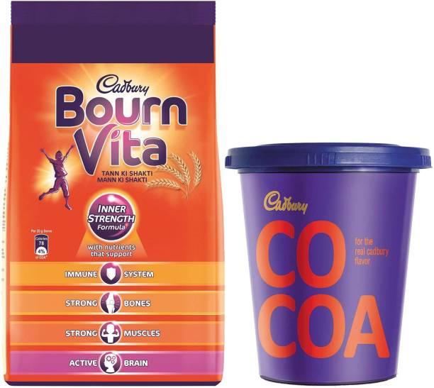 Cadbury Bournvita 1 Kg Pouch + Cocoa Powder 150 Gm Combo