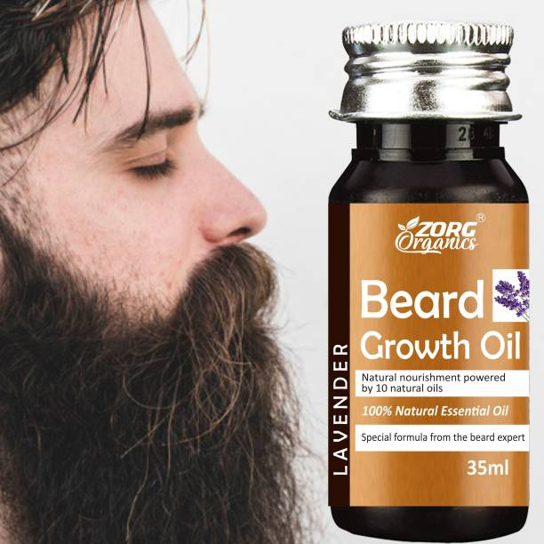 Zorg Beard Growth Oil - 35ml - More Beard Growth, 8 Natural Oils including Jojoba Oil, Vitamin E, Nourishment & Strengthening, No Harmful Chemicals Hair Oil