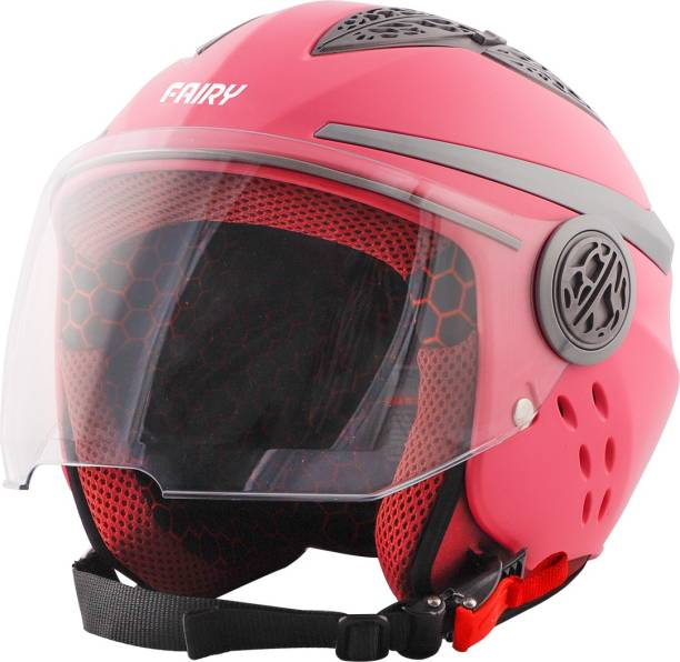Steelbird Fairy Specially Designed ISI Certified Helmet for Girls/Womens Motorbike Helmet