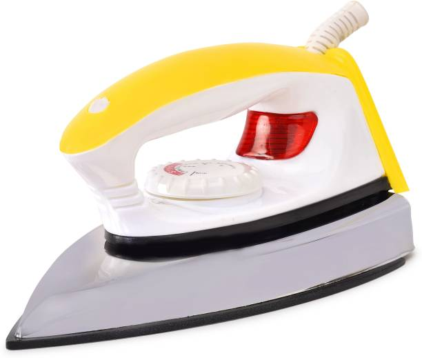 Papel Yellow & White Fabric Ultra Light Weight Non Stick Du point American Heritage Coating Plate 750 W Dry Iron