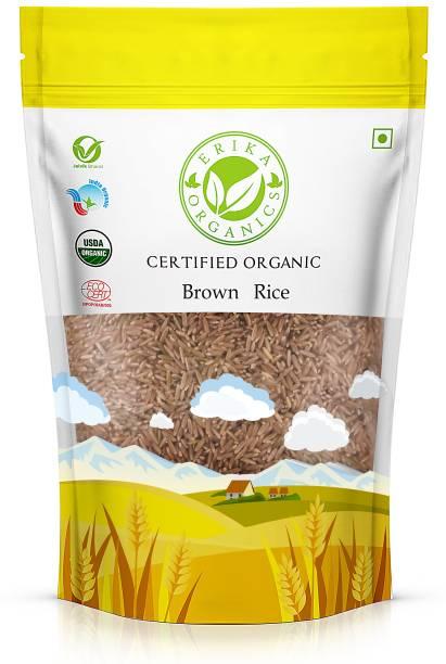 erika organics Premium Brown Rice, 2Kg (Pack of 4) Brown Basmati Rice