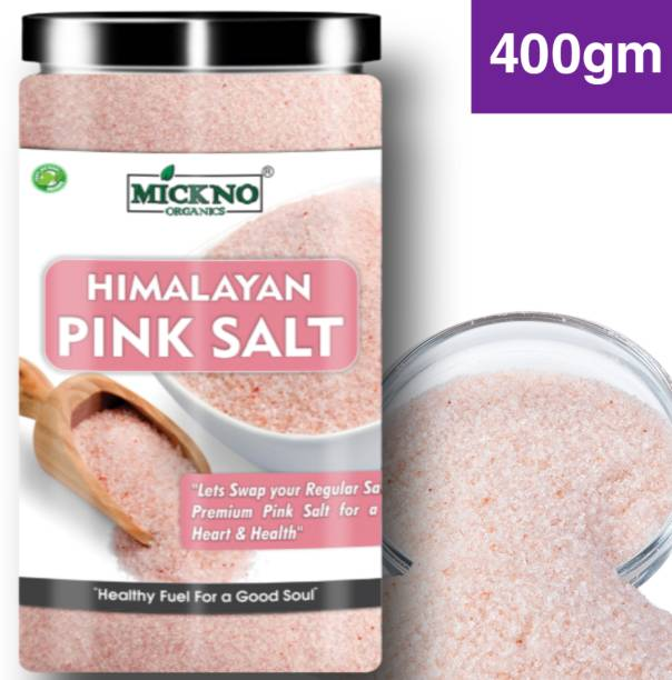 mickno organics 400 Gm Authentic Premium Himalayan Pink Salt For Weight loss and Healthy Eating Straight From The Mountains , Pink Rock Salt Himalayan Pink Salt