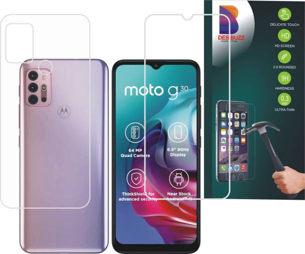 DESIBUZZ Front and Back Screen Guard for MOTOROLA G30, Moto G30