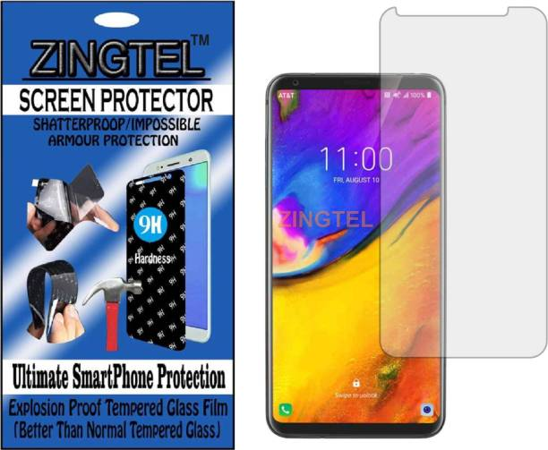 ZINGTEL Tempered Glass Guard for LG V35 PLUS THINQ (Flexible, Unbreakable)