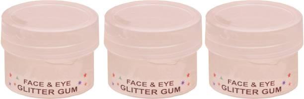 EverGlam Eye & Nail Art Glitter Gum Pack of 3