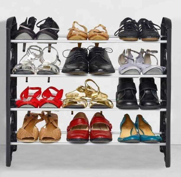 FLIPZON 12 Pair, 4 Shelves Plastic Shoe Stand