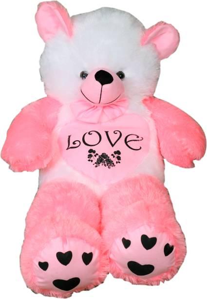 vtb retail stuffed toys 4 feet pink teddy bear / high quality / love teddy For girls valentine & Anniversary gift / cute and soft teddy bear -122 cm (Pink)  - 152 cm