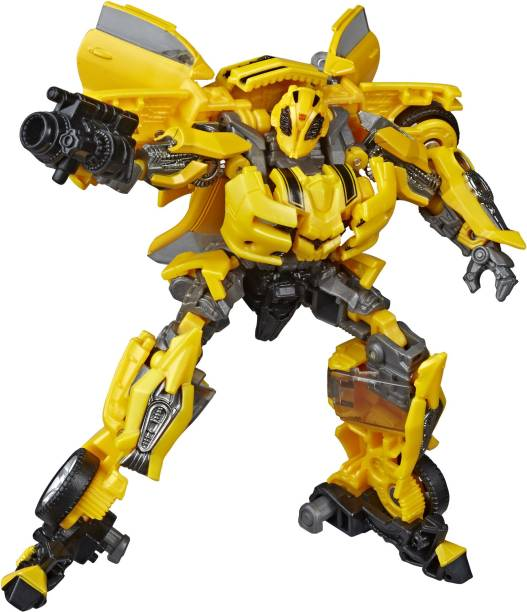 TRANSFORMERS Toys Studio Series 49 Deluxe Class : Movie 1 Bumblebee Action Figure, Kids Ages 8 and Up, 4.5-inch