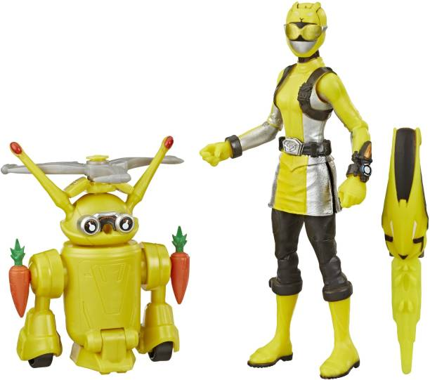 Power Rangers Beast Morphers Yellow Ranger and Morphin Jax Beast Bot 6-Inch 2-Pack Toys Inspired by the TV Show
