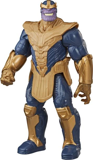 MARVEL Avengers Titan Hero Series Blast Gear Deluxe Thanos Action Figure, 12-Inch Toy, Kids Ages 4 And Up