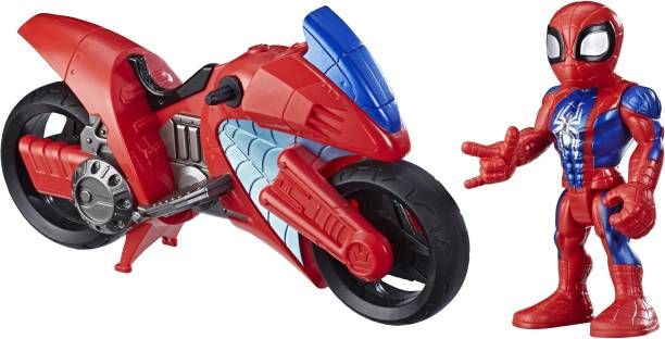 MARVEL Spider-Man Swingin' Speeder, 5-Inch Figure and Motorcycle Set, Toys for Kids Ages 3 and Up