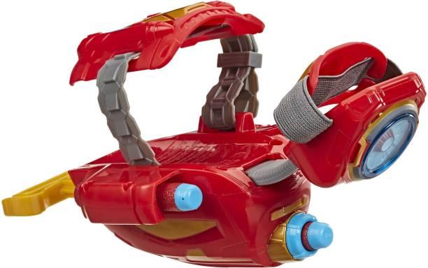 MARVEL NERF Power Moves Avengers Iron Man Repulsor Blast Gauntlet NERF Dart-Launching Toy for Kids Roleplay