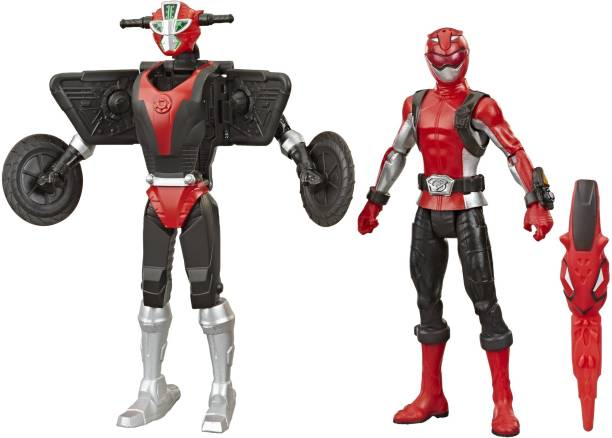 Power Rangers Beast Morphers Red Ranger and Morphin Cruise Beast Bot 6-Inch 2-Pack Toys Inspired by the TV Show