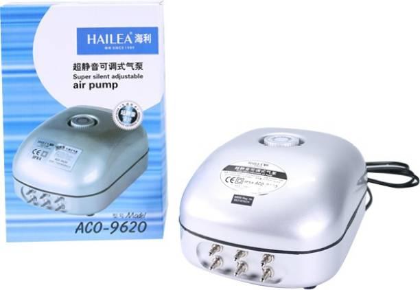 Hailea ACO 9620 Super Silent Adjustable 6 Way Air Pump 12W Air Aquarium Pump